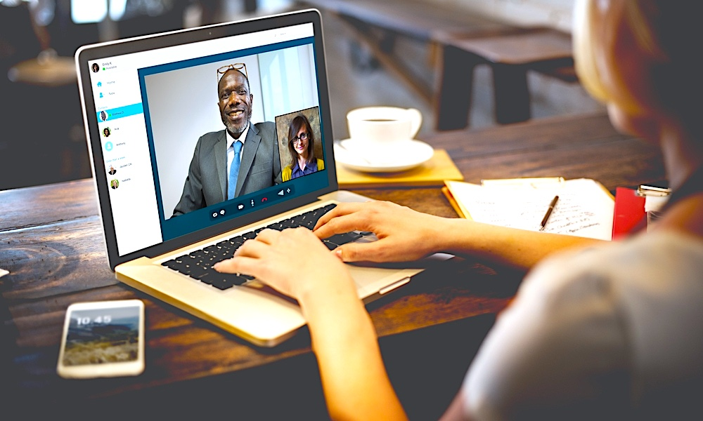 Woman In Video Conference On Macbook1